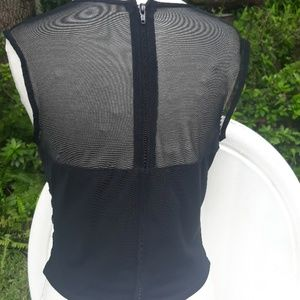 Cache Tops - Vintage Cache Sexy black sleeveless top S/m